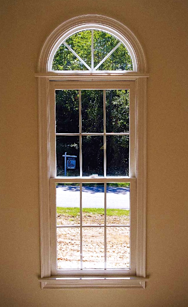 Half Hung Windows : Half round w starburst grids over double hung colonial