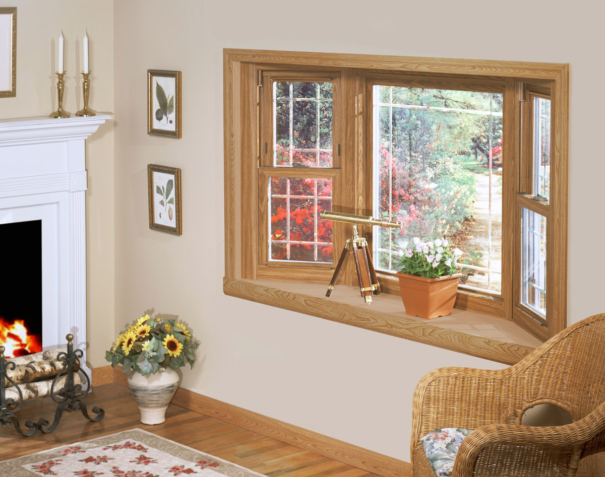 45 Degree Wood Bay Window W Prairie Grids Weathermaster