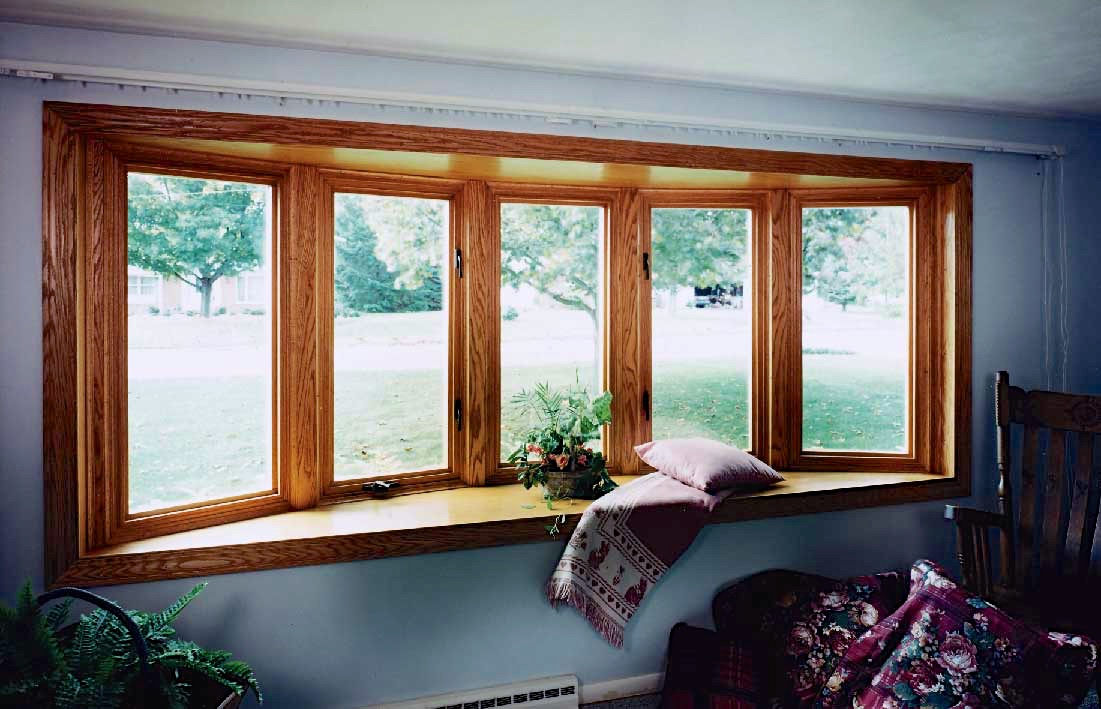5 Section Wood Bow Window