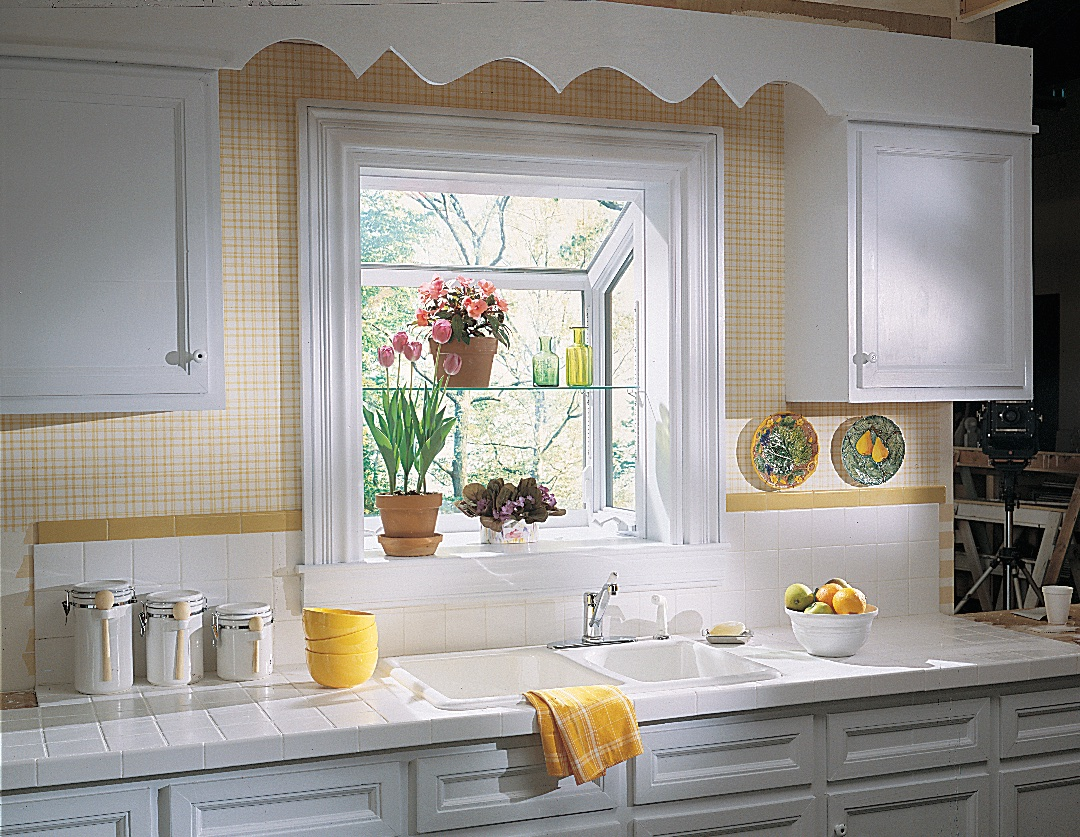 Garden Window- Perfect for Large Window Over Kitchen Sink; Shown w ...