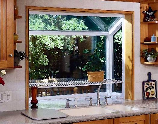 Large Garden Window; Shown w/ Optional Shelf