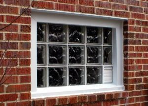 Glass Block Window w/ Built-In Dryer Vent